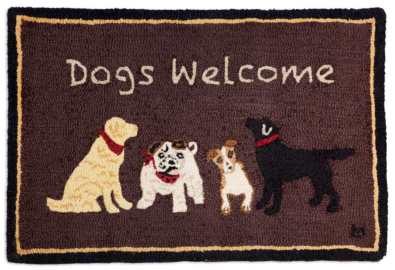 DOGS WELCOME ON BROWN