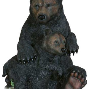 Mama Bear and Cub Sitting