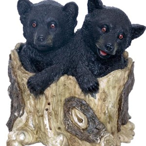 Small Cubs in tree trunk