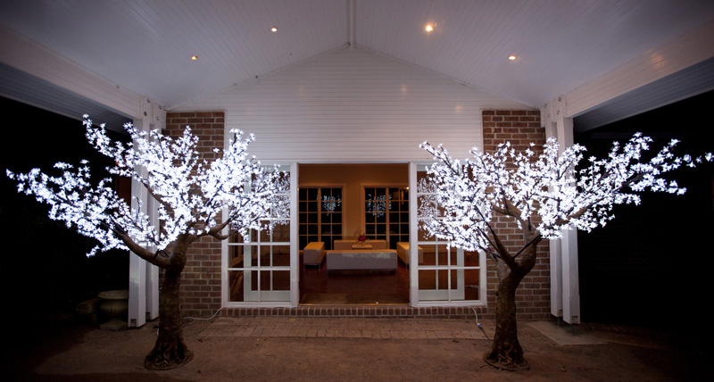 Led cherry blossom tree beautiful outdoor lighting outdoor ideas led tree small blue ocean lighthouse illuminated mozeypictures Image collections