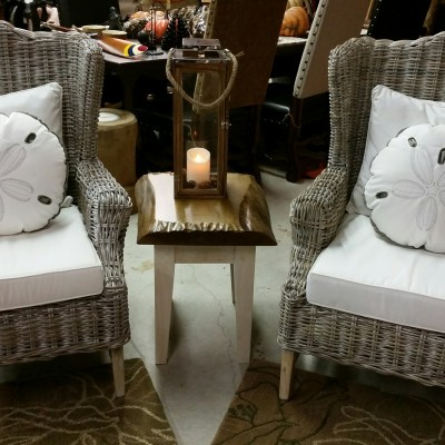 Wing Back Wicker Chairs