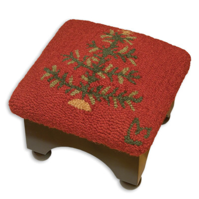 FEATHER TREE FOOTSTOOL