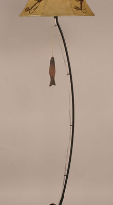 Fishing Pole Floor Lamp