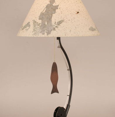 Fishing Pole Table Lamp