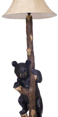Floor Lamp One Bear Standing Holding Tree