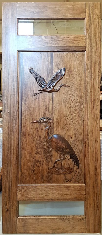 Custom Carved Doors Blue Ocean Lighthouse