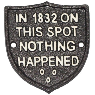 Nothing Happened Shield Sign