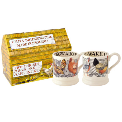 Hen & Toast Set of 2.5 Pint Mugs