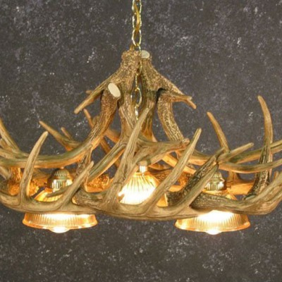 Antler Chandelier with Down Lights