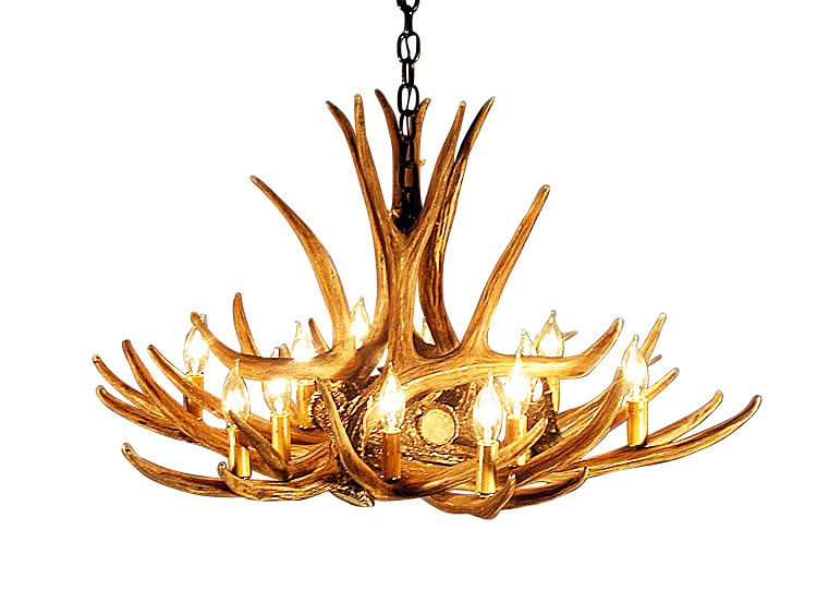 Mule deer 9 antler chandelier blue ocean lighthouse mule deer 9 antler chandelier homelightingall aloadofball Images